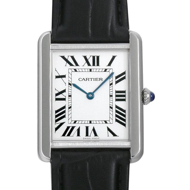 【48回払いまで無金利】カルティエ タンクソロ LM W5200003 メンズ(0F49CAAU0001)【中古】【腕時計】【送料無料】