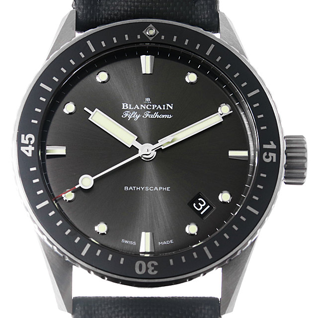【48回払いまで無金利】ブランパン フィフティファゾムス バチスカーフ 5000-1110-B52A メンズ(0FB0BPAU0001)【中古】【腕時計】【送料無料】