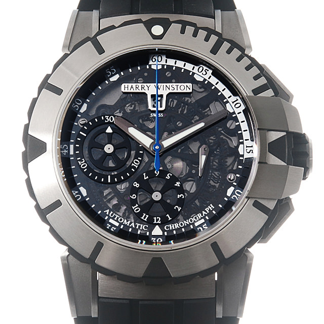 【48回払いまで無金利】SALE ハリーウィンストン オーシャン クロノグラフ OCSACH44ZZ001 メンズ(0FGHHWAU0001)【中古】【腕時計】【送料無料】