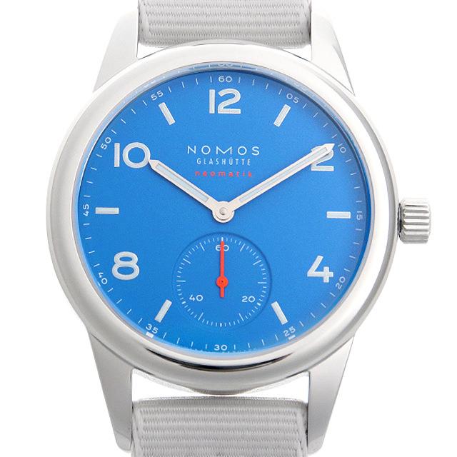 【48回払いまで無金利】ノモス クラブ ネオマティック シグナルブルー CL130011SB2(742) メンズ(002GNOAR0043)【新品】【腕時計】【送料無料】