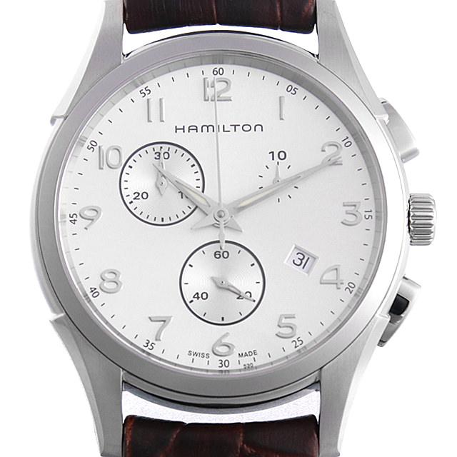 【48回払いまで無金利】ハミルトン ジャズマスター シンライン クロノ クォーツ H38612553 メンズ(006THMAN0057)【新品】【腕時計】【送料無料】