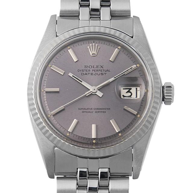 【48回払いまで無金利】ロレックス デイトジャスト Cal.1560 12番 1601 グレー/バー メンズ(0014ROAA0013)【アンティーク】【腕時計】【送料無料】