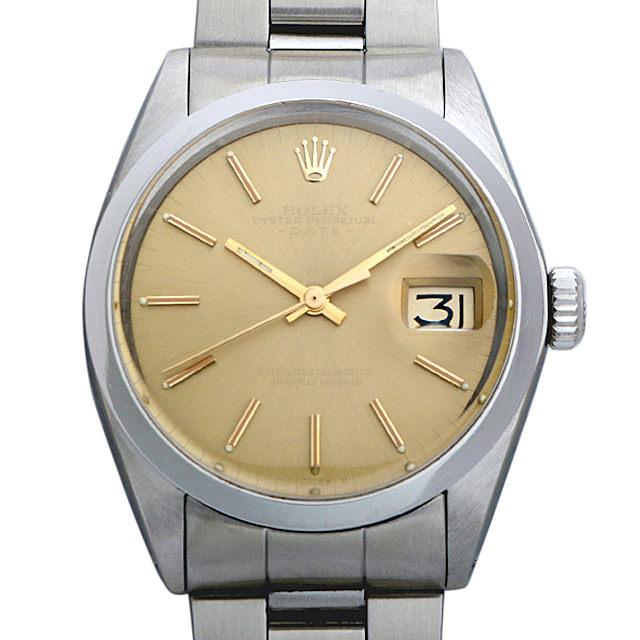【48回払いまで無金利】ロレックス オイスターパーペチュアル デイト Cal.1570 29番 1500 ブラウン/バー メンズ(001HROAA0021)【アンティーク】【腕時計】【送料無料】