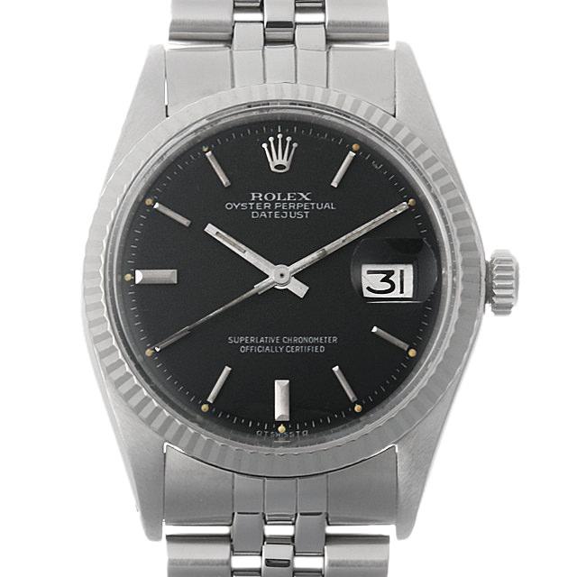 【48回払いまで無金利】ロレックス デイトジャスト Cal.1570 38番 1601 ブラック/バー メンズ(006XROAA0080)【アンティーク】【腕時計】【送料無料】