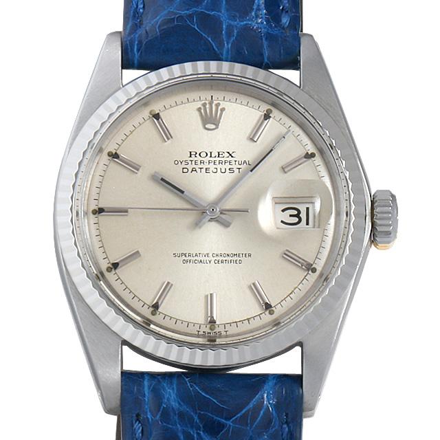 ロレックス デイトジャスト Cal.1570 18番 1601 シルバー メンズ(006XROAA0084)【アンティーク】【腕時計】【送料無料】