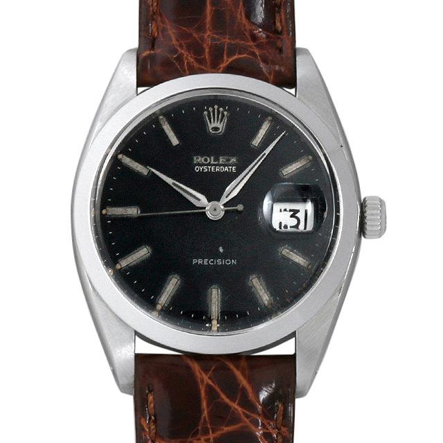 【48回払いまで無金利】ロレックス オイスターデイト プレシジョン Cal.1210 6694 ブラックミラーダイアル メンズ(006XROAA0094)【アンティーク】【腕時計】【送料無料】