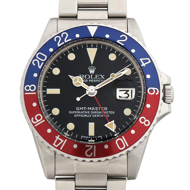 【48回払いまで無金利】ロレックス GMTマスター 赤青ベゼル Cal.1570 57番 1675 メンズ(007UROAA0062)【アンティーク】【腕時計】【送料無料】