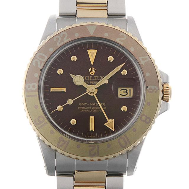 【48回払いまで無金利】ロレックス GMTマスター Cal.1570 24番 1675 ブラウン/フジツボ メンズ(007UROAA0067)【アンティーク】【腕時計】【送料無料】