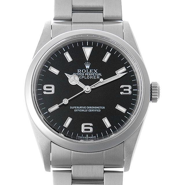 【48回払いまで無金利】ロレックス エクスプローラーI P番 14270 メンズ(007UROAU0258)【中古】【腕時計】【送料無料】