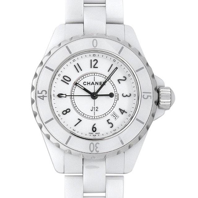 【48回払いまで無金利】シャネル J12 白セラミック H0968 レディース(0087CHAU0009)【中古】【腕時計】【送料無料】