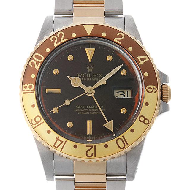 【48回払いまで無金利】ロレックス GMTマスター 90番 16753 ブラウン/フジツボ メンズ(0BCCROAU0009)【中古】【腕時計】【送料無料】