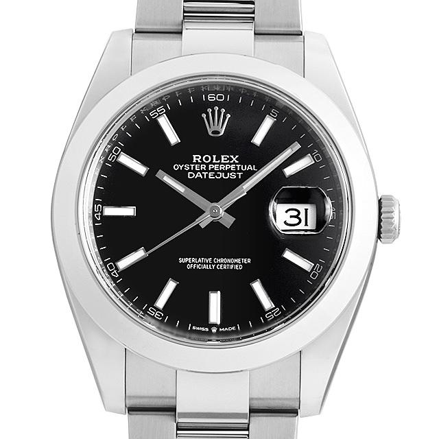 【48回払いまで無金利】ロレックス デイトジャスト41 オイスターブレス 126300 ブラック メンズ(006XROAN0099)【新品】【腕時計】【送料無料】