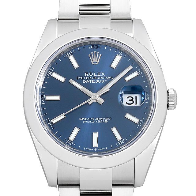 【48回払いまで無金利】ロレックス デイトジャスト41 オイスターブレス 126300 ブルー メンズ(009FROAN0144)【新品】【腕時計】【送料無料】