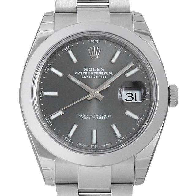 【48回払いまで無金利】ロレックス デイトジャスト41 オイスターブレス 126300 グレー メンズ(009FROAN0143)【新品】【腕時計】【送料無料】