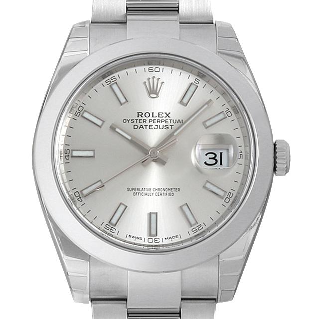 【48回払いまで無金利】ロレックス デイトジャスト41 オイスターブレス 126300 シルバー メンズ(009FROAN0152)【新品】【腕時計】【送料無料】