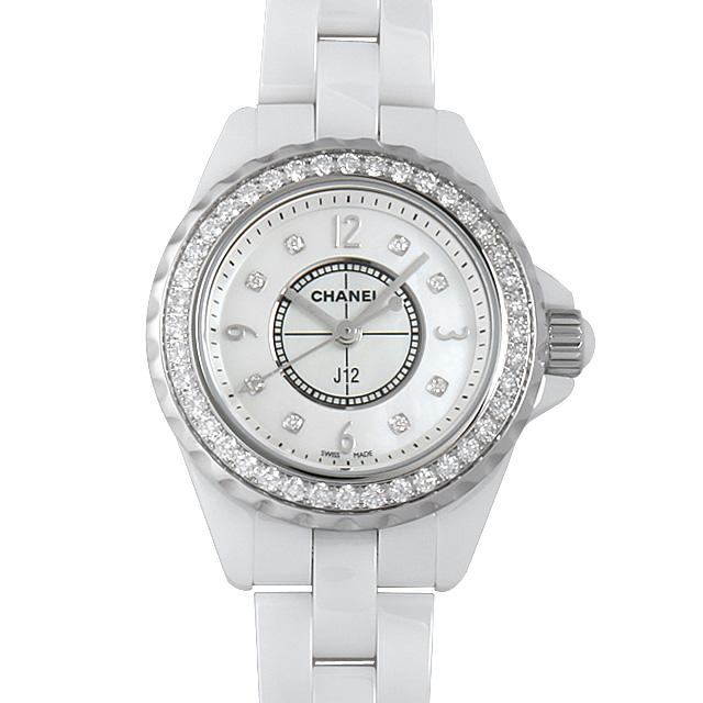 シャネル J12 8Pダイヤ ベゼルダイヤ H2572 レディース(0K6TCHAN0001)【新品】【腕時計】【送料無料】