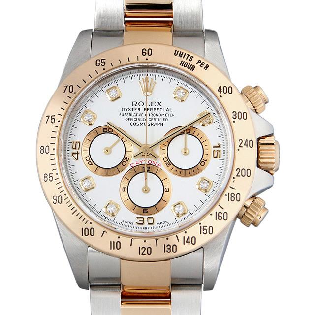 【48回払いまで無金利】SALE ロレックス コスモグラフ デイトナ 8Pダイヤ A番 16523G ホワイト メンズ(0014ROAU0143)【中古】【腕時計】【送料無料】