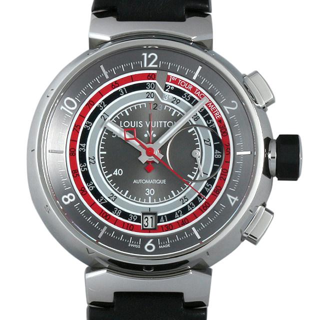 【48回払いまで無金利】ルイヴィトン タンブール ヴォワイヤージュ クロノグラフ 限定888本 Q102C メンズ(0063LVAU0003)【中古】【腕時計】【送料無料】