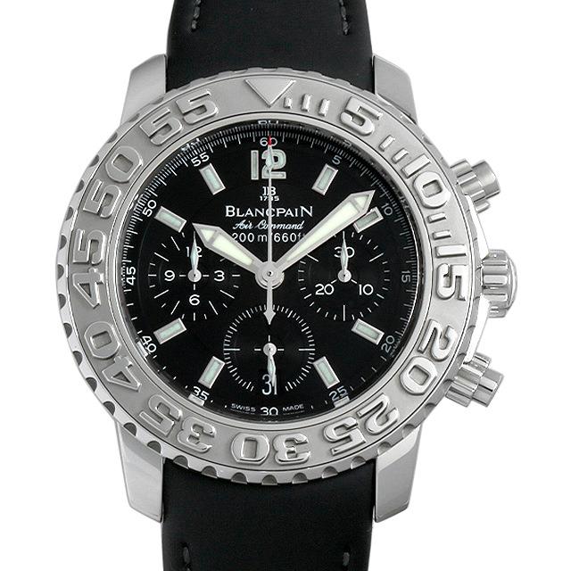 【48回払いまで無金利】ブランパン トリロジー エアコマンドー フライバッククロノグラフ 2285F-1130-64B メンズ(006XBPAU0003)【中古】【腕時計】【送料無料】
