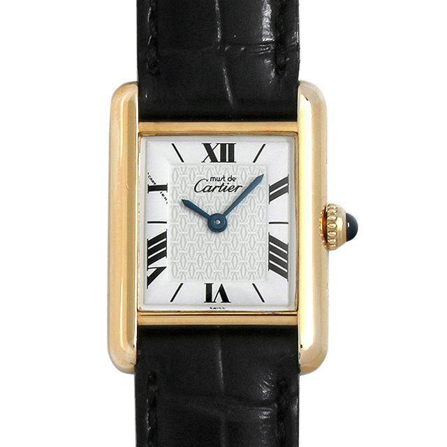 【48回払いまで無金利】カルティエ マストタンク ヴェルメイユ SM W1009654 レディース(006XCAAU0146)【中古】【腕時計】【送料無料】