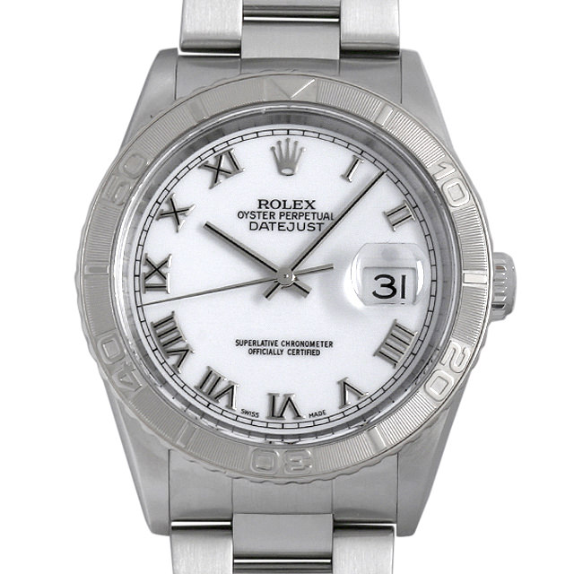 【48回払いまで無金利】ロレックス デイトジャスト サンダーバード F番 16264 ホワイト/ローマ メンズ(007UROAU0295)【中古】【腕時計】【送料無料】