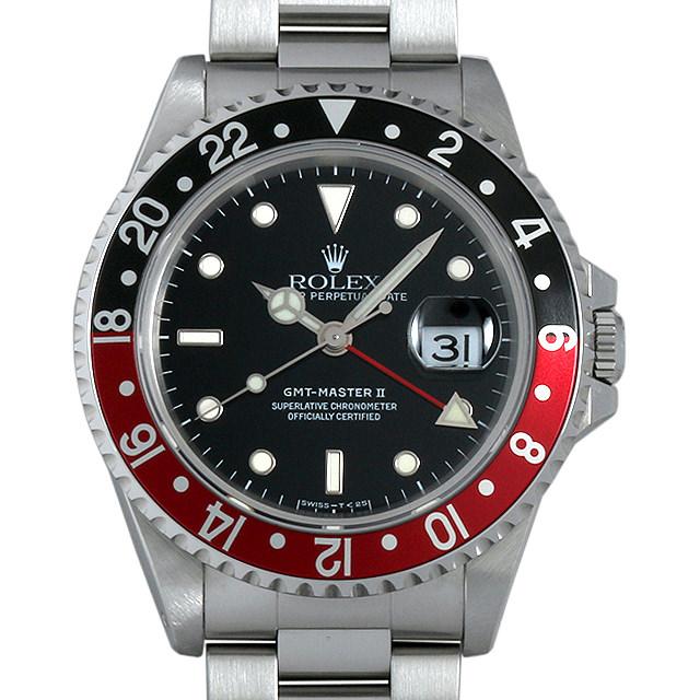【48回払いまで無金利】ロレックス GMTマスターII 赤黒ベゼル W番 16710 メンズ(007UROAU0311)【中古】【腕時計】【送料無料】