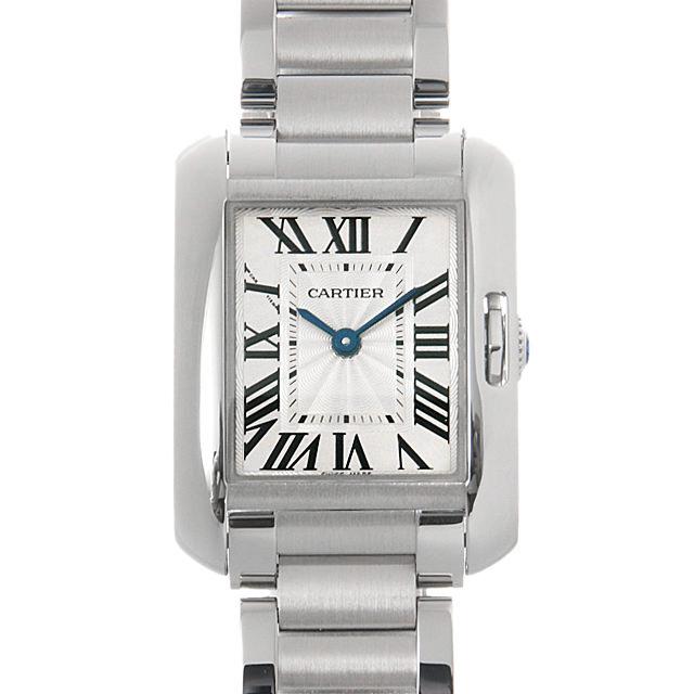 【48回払いまで無金利】カルティエ タンクアングレーズ SM W5310022 レディース(008KCAAU0046)【中古】【腕時計】【送料無料】