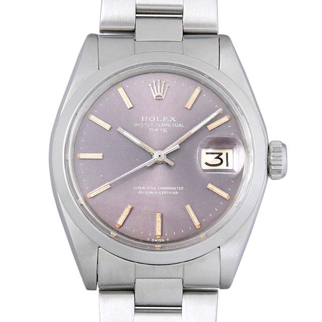 【48回払いまで無金利】ロレックス オイスターパーペチュアル デイト Cal.1570 30番 1500 グレー/バー メンズ(0F2LROAA0001)【アンティーク】【腕時計】【送料無料】