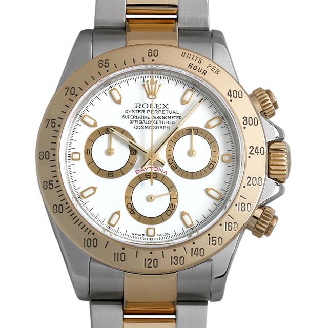 【48回払いまで無金利】ロレックス コスモグラフ デイトナ P2番 116523 ホワイト メンズ(0FGBROAU0002)【中古】【腕時計】【送料無料】