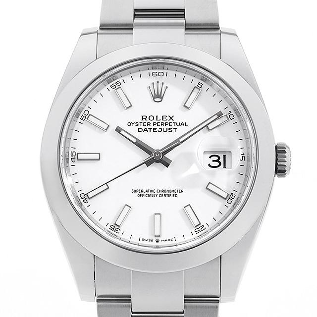 【48回払いまで無金利】ロレックス デイトジャスト41 126300 ホワイト メンズ(009FROAN0153)【新品】【腕時計】【送料無料】
