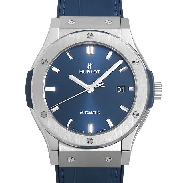 【48回払いまで無金利】ウブロ クラシックフュージョン チタニウム ブルー 542.NX.7170.LR メンズ(009FHBAN0122)【新品】【腕時計】【送料無料】