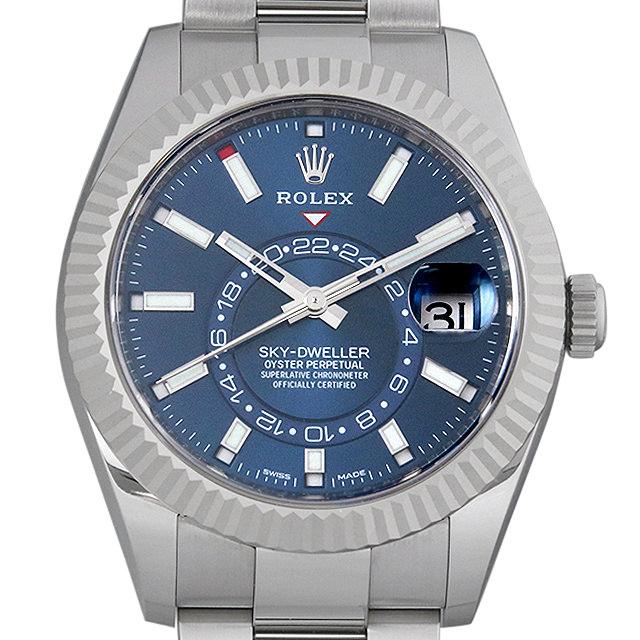 ロレックス スカイドゥエラー 326934 ブルー メンズ(0CHKROAS0001)【中古】【未使用】【腕時計】【送料無料】