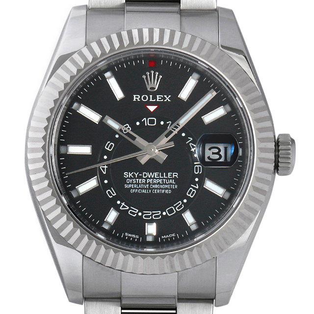 【48回払いまで無金利】ロレックス スカイドゥエラー 326934 ブラック メンズ(002XROAU0007)【中古】【腕時計】【送料無料】
