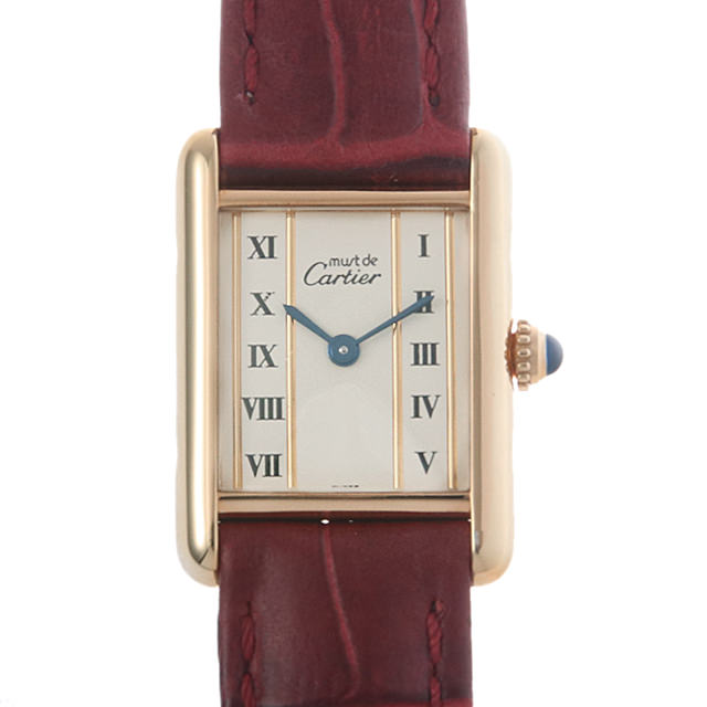 【48回払いまで無金利】カルティエ マストタンク ヴェルメイユ W1003053 レディース(006XCAAU0131)【中古】【腕時計】【送料無料】