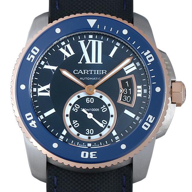 【48回払いまで無金利】カルティエ カリブル ドゥ カルティエ ダイバー ブルー W2CA0008 メンズ(006XCAAU0148)【中古】【腕時計】【送料無料】
