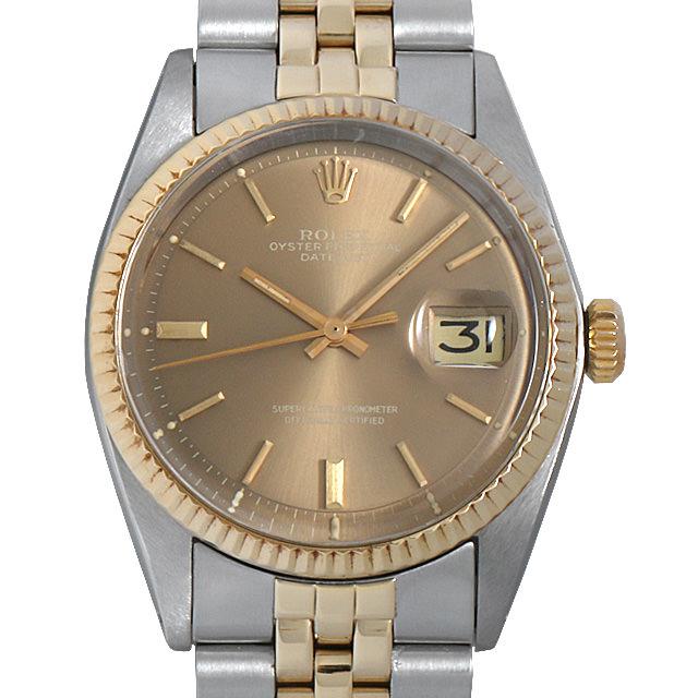【48回払いまで無金利】ロレックス デイトジャスト 30番 1601 ブラウン/バー メンズ(006XROAA0102)【アンティーク】【腕時計】【送料無料】