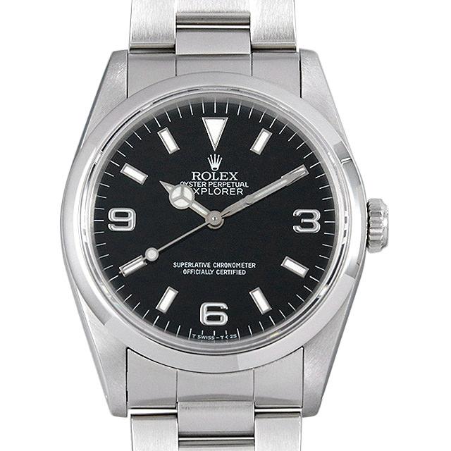 【48回払いまで無金利】ロレックス エクスプローラーI X番 14270 メンズ(006XROAU0647)【中古】【腕時計】【送料無料】