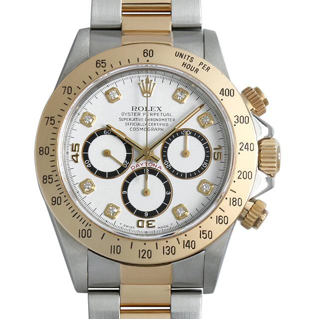 【48回払いまで無金利】ロレックス コスモグラフ デイトナ 8Pダイヤ E番 16523G ホワイト 逆6文字盤 メンズ(006XROAU0672)【中古】【腕時計】【送料無料】