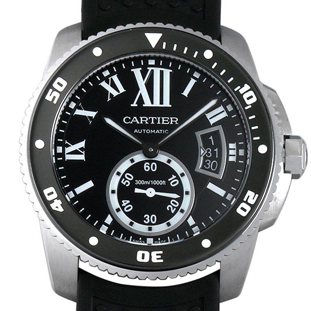 【48回払いまで無金利】カルティエ カリブル ドゥ カルティエ ダイバー W7100056 メンズ(007UCAAU0120)【中古】【腕時計】【送料無料】