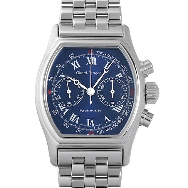 【48回払いまで無金利】ジラールペルゴ リシュビル クロノグラフ 2710 メンズ(007UGIAU0001)【中古】【腕時計】【送料無料】
