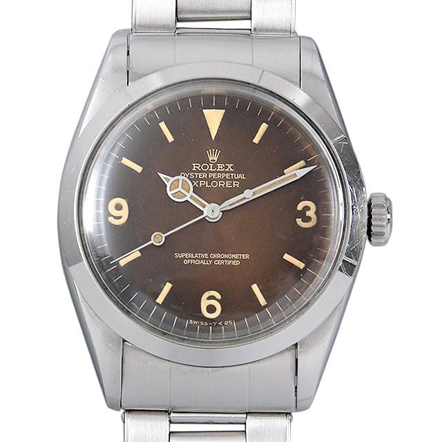 【48回払いまで無金利】ロレックス エクスプローラーI Cal.1560 12番 1016 トロピカルブラウンダイヤル メンズ(008KROAA0006)【アンティーク】【腕時計】【送料無料】