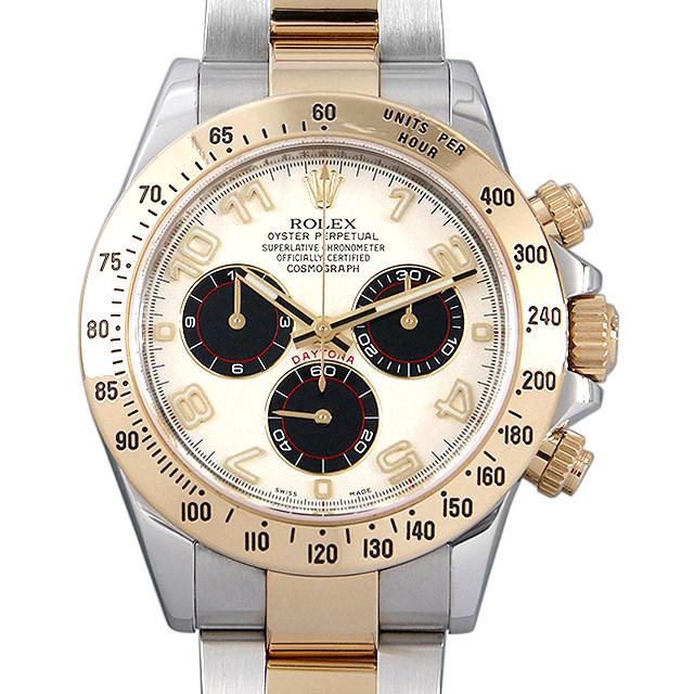 【48回払いまで無金利】ロレックス コスモグラフ デイトナ ランダムシリアル 116523 ホワイト/アラビア メンズ(008KROAU0100)【中古】【腕時計】【送料無料】