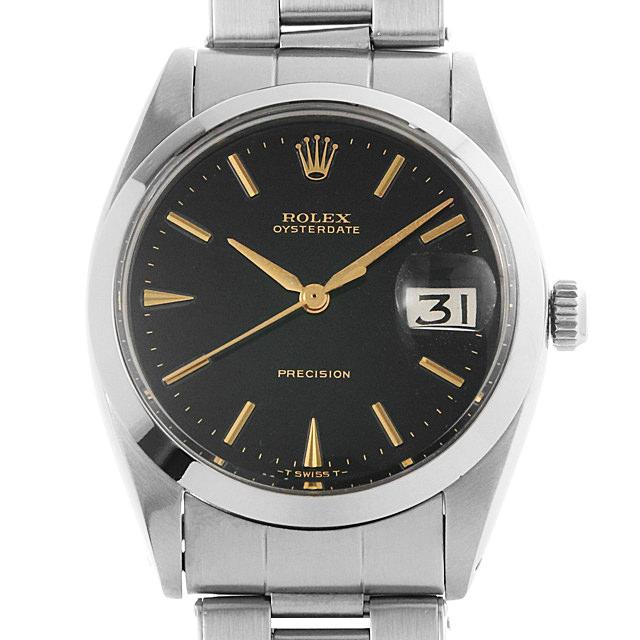【48回払いまで無金利】ロレックス オイスターデイト プレシジョン 14番 6694 ブラックミラー メンズ(008WROAA0031)【アンティーク】【腕時計】【送料無料】
