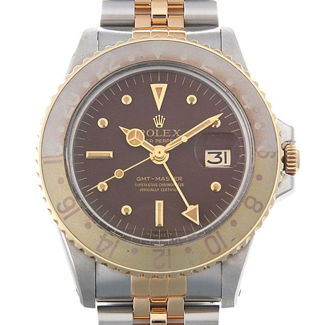【48回払いまで無金利】ロレックス GMTマスター Cal1570 31番 1675 ブラウン/フジツボ メンズ(009SROAA0001)【アンティーク】【腕時計】【送料無料】