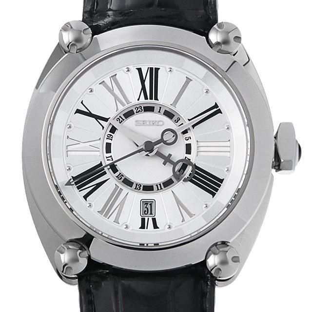 【48回払いまで無金利】セイコー ガランテ メカニカルGMT SBLM001 メンズ(06JASEAU0001)【中古】【腕時計】【送料無料】