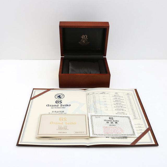 SALE 그랜드 세이코 메카니컬 40주년 기념 모델 SBGR011 맨즈(001 HSEAU0029)