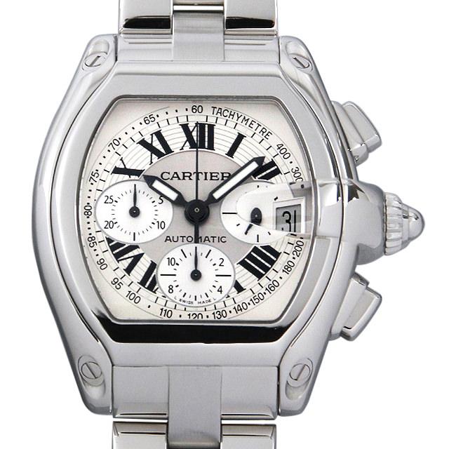 【48回払いまで無金利】カルティエ ロードスター クロノグラフ W62006X6 メンズ(0C9VCAAU0001)【中古】【腕時計】【送料無料】