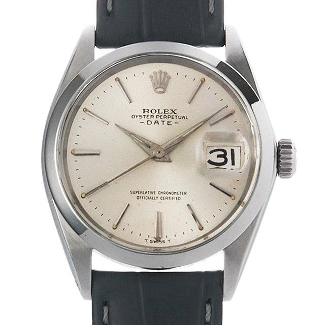【48回払いまで無金利】ロレックス オイスターパーペチュアル デイト Cal.1560 22番 1500 シルバー/バー メンズ(0FGBROAA0001)【アンティーク】【腕時計】【送料無料】
