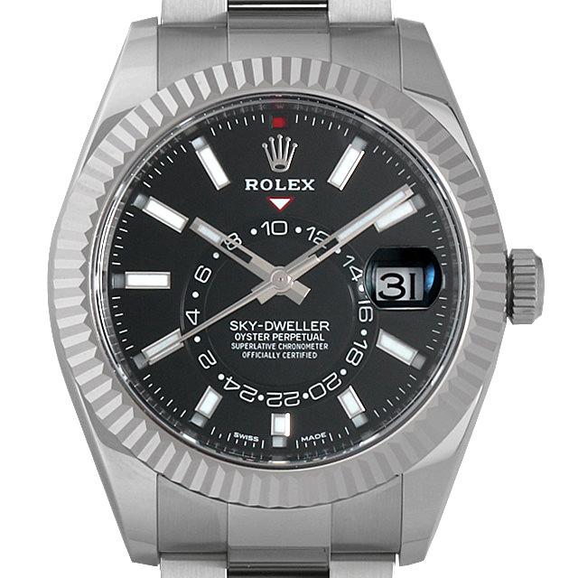 【48回払いまで無金利】ロレックス スカイドゥエラー 326934 ブラック メンズ(01C5ROAS0007)【中古】【未使用】【腕時計】【送料無料】