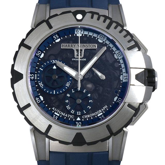 【48回払いまで無金利】ハリーウィンストン オーシャン クロノグラフ OCSACH44ZZ007 メンズ(001HHWAU0017)【中古】【腕時計】【送料無料】